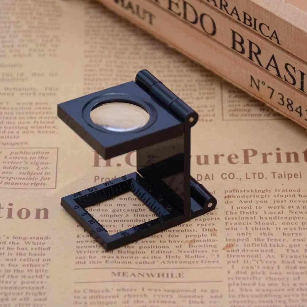 22 มม.ขนาดแว่นขยาย LED Light พิมพ์ผ้า 8X เลนส์ขยาย Lupa แว่นขยาย Hot N