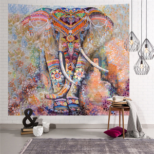 Image 2 - Elephant Tapestry Wall Hanging Animal Wall Carpet Twin Hippie Tapestry Bohemian Hippy Home Decor Bedspread Sheet