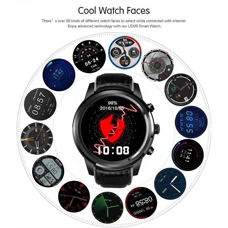 Купить смарт часы lem5 3g для мужчин 2020 gps android bluetooth вызов