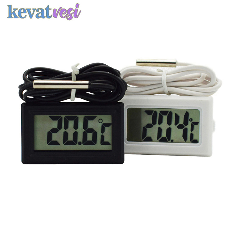 Waterproof LCD Digital Thermometer Aquarium Electronic Precision Fish Tank Temperature Measuring Tool With Probe