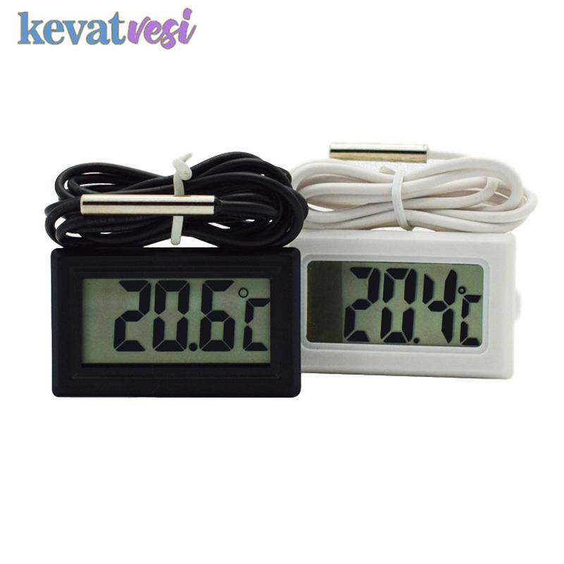 Waterproof LCD Digital Thermometer Aquarium Electronic Precision Fish Tank Temperature Measuring Tool with Probe