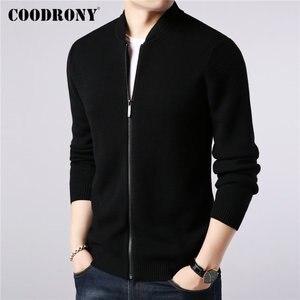 Image 2 - COODRONY ยี่ห้อเสื้อกันหนาวผู้ชายผ้าขนสัตว์ชนิดหนึ่งขนสัตว์ Cardigan เสื้อผ้าผู้ชาย 2019 ใหม่ฤดูใบไม้ร่วงฤดูหนาวหนาอบอุ่นเสื้อโค้ทซิป 91088