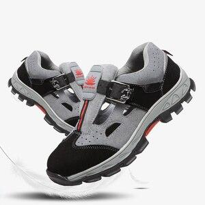 Image 2 - Scarpe antinfortunistiche da lavoro uomo puntali in acciaio scarpe antinfortunistiche antisfondamento deodorante traspirante sandali da lavoro resistenti allusura