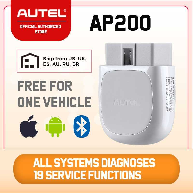 Autel AP200 Bluetooth OBD2 Scanner Auto Code Reader mit Alle System Diagnosen und 19 Service Funktionen Automotive Scan Tool