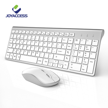 "2.4GHz Wireless Spanish Keyboard and Mouse Set Ergonomic PC Mouse Slim Keyboard Spanish Layout with ""Ñ"" for Windows Mac Laptop 1"