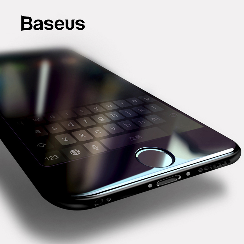 Baseus For iPhone 8 7 Screen Protector Ultra Thin 9H Scratch Proof Tempered Glass For iPhone 7 Plus 8 Plus Protective Glass-in Phone Screen Protectors from Cellphones & Telecommunications on