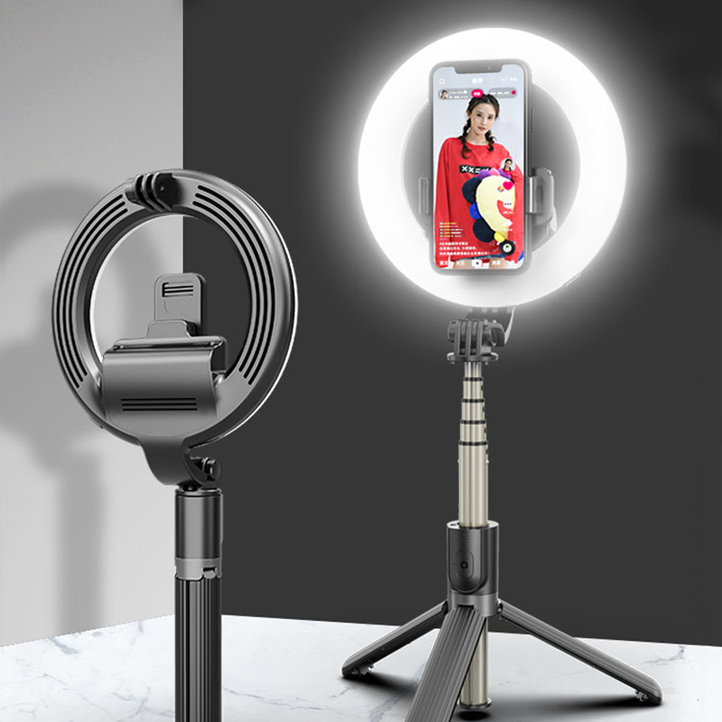 Photo LED Selfie Stick Ring Fill Light Dimmable Camera Phone Ring Lamp with Stand Tripod for Makeup Video Live Studio PU
