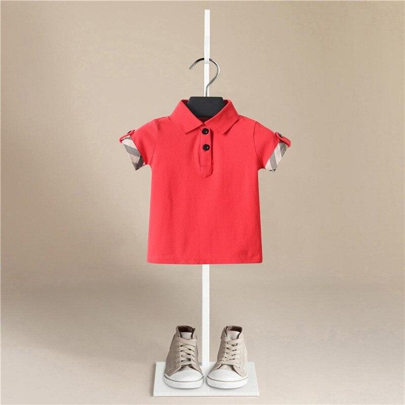 2020 New Summer Boys T Shirt Fashion Lapel Stripes Kids TShirt For Boy Cotton Short Sleeve Baby T Shirt Children's Clothes Brand
