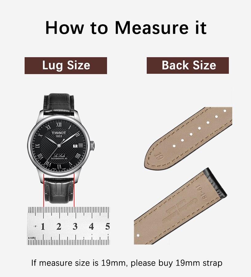 22mm pulseira de couro genuíno pulseira de relógio