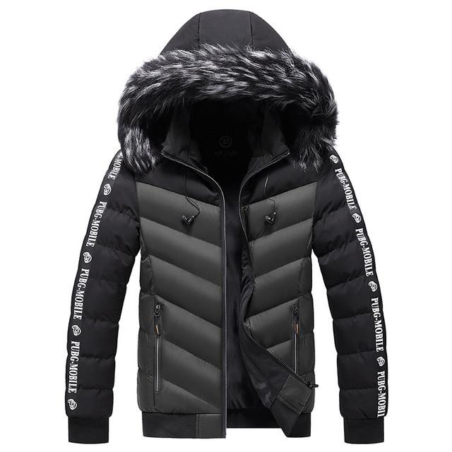 Winter Jacket Men 2021 Fur Collar Hooded Thick Warm Cotton Outwear Man Patchwork Parka and Coats Windbreaker Parkas Male M-5XL 4