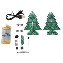 Diy 3D Рождественская елка комплект рождественские подарки вспышка красочные светодиодные огни воспроизведения музыки