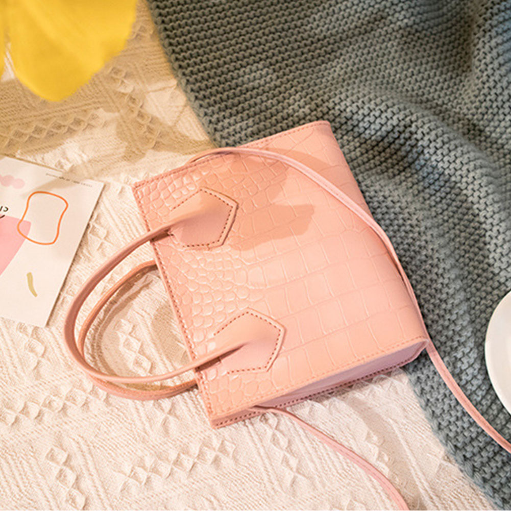 Women Fashion Crossbody Bag PU Leather Gift Dating Crocodile Pattern Single Shoulder With Handle Ladies Handbag Girls Cosmetics