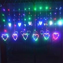 Уличная Водонепроницаемая светодиодная гирлянда с сердечками