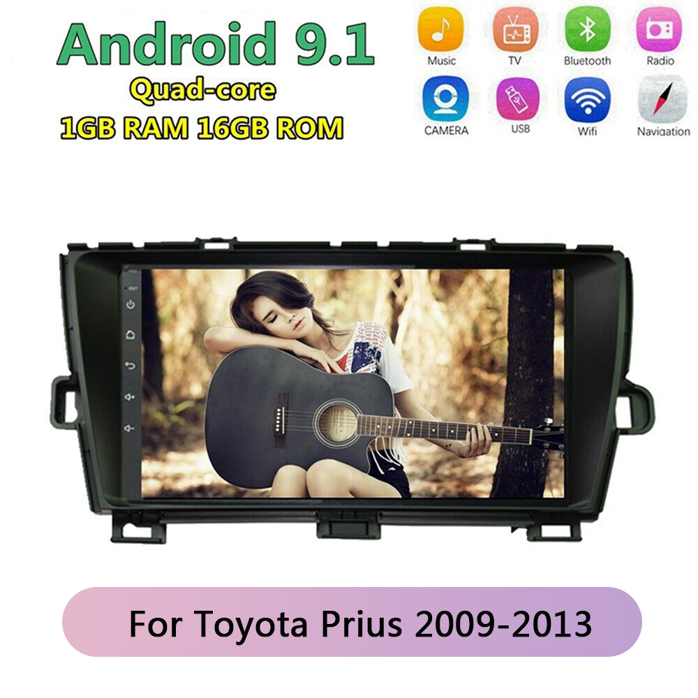 latest system Android 9.1 Car DVD Player Radio Stereo GPS Tracker Navigation For Toyota Prius 2009 2010 2011 2012 2013|Vehicle GPS|Automobiles & Motorcycles - title=