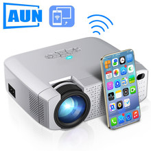 AUN LED Mini Projector D40W,Video Beamer for Home Cinema.1600 Lumens, Support HD, Wireless Sync Display For iPhone/Android Phone(China)