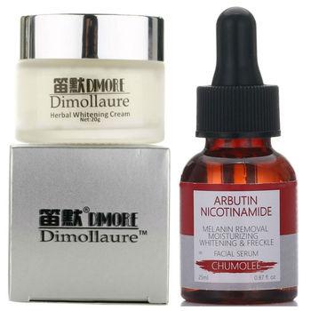 Dimollaure, blanqueamiento potente Crema para pecas + suero de Alfa arbutina, elimina el melasma, antienvejecimiento, cuidado de la piel