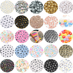 4x7mm Mix Letter Acrylic Beads Round Flat Alphabet Digital Loose Spacer Beads For Jewelry Making Diy Bracelet Necklace Wholesale