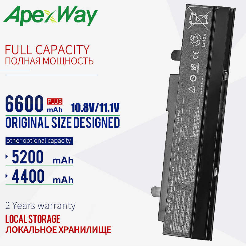 Apexway 6 Cellen 11.1 V A32-1015 Laptop Batterij Voor Asus Eee Pc 1011CX 1011P 1011PDX 1011PD 1011PN 1011PX 1011B 1011BX 1011C