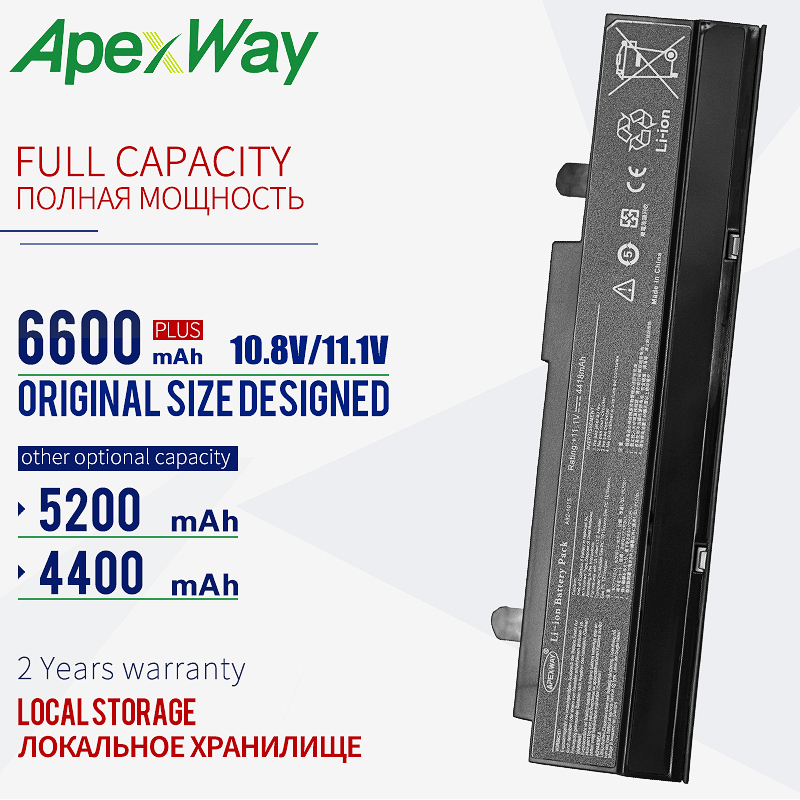 Apexway 6 Cells 11.1v A32-1015 Laptop Battery For ASUS Eee PC 1011CX 1011P 1011PDX 1011PD 1011PN 1011PX 1011B 1011BX 1011C