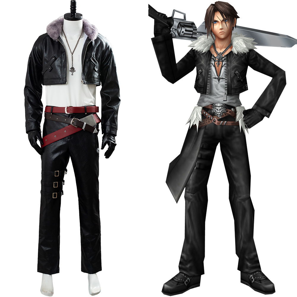 Final Fantasy 8 Remastered Cosplay Squall Leonhart Costume Uniform FF Suit Outfit Halloween Carnival Costume Men Women