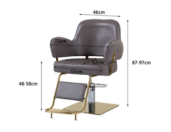 High grade hair salon special lift down barber\'s chair disc cutting chair hot dyeing chair - DISCOUNT ITEM  27 OFF Furniture