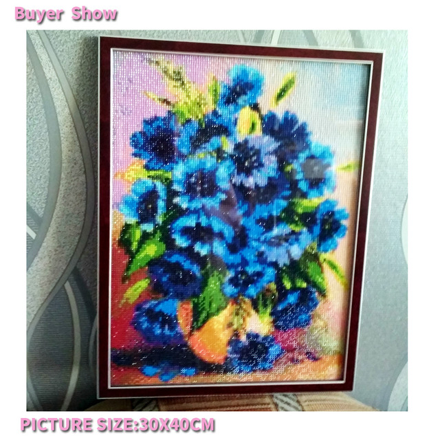 Diamond Embroidery Floral Diamond Painting Full Square Flower Diamond Mosaic Cross Stitch Picture Rhinestones Crystal Needlework