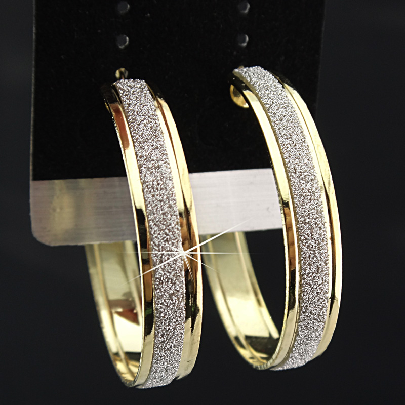 Лидер продаж, модные женские серьги-кольца с принтом зебры из матового серебра, большие вечерние ювелирные изделия, женские серьги в подарок - Окраска металла: Gold