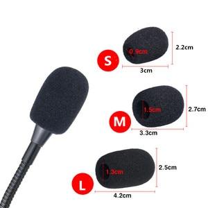 10 шт. отворот гарнитура микрофон Микрофон ветровые экраны пенный (мягкий) микрофон Чехлы черный цвет