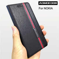 Hand Made For nokia 3 5 6 7 8 3.1 7.1 x6 6.1 plus 8.1 6.2 x71 2018 Leather Case For nokia 7.2 3.2 4.2 Flip Cover case Card Slot