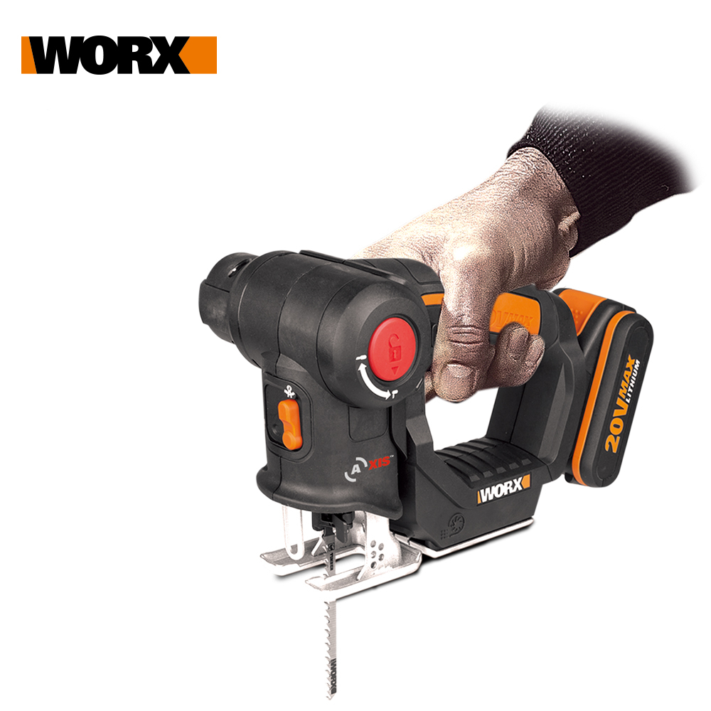 Worx 20V Electric Saw WX550 Multi purposed saw Reciprocating Saw Axis Cordless Scroll Saw 2in1 Rechargeable Home DIY Power Tools