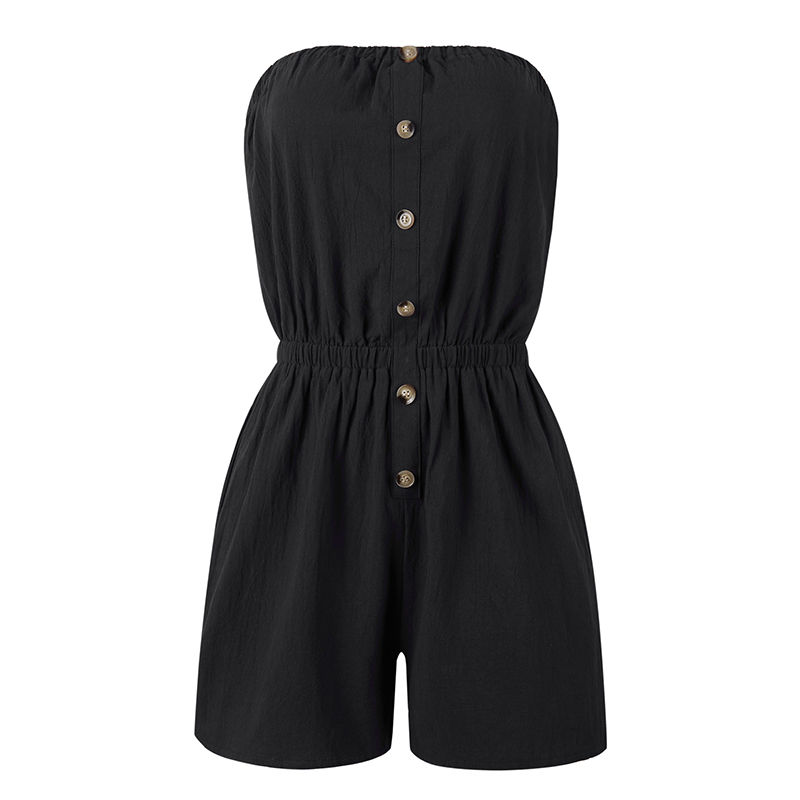 Sexy Jumpsuit Romper Beach-Shorts Womens Summer Casual Sleeveless Ladies Hot Bandeau
