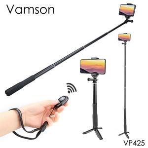 Image 1 - Vamson Mini Selfie statyw dla iPhone XR 8X7 6s Plus kijek do Selfie Bluetooth uchwyt do Selfie dla xiaomi dla Huawei VP425
