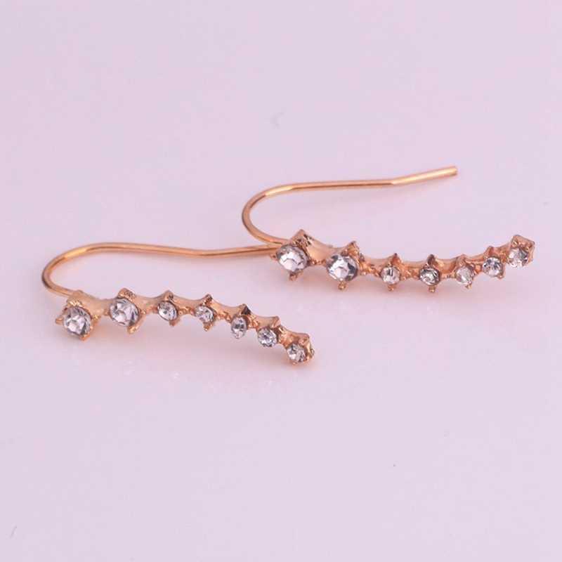 Big Dipper Alloy Stud Earrings High-Grade Simulated Diamonds Ear Stud Concise Fashion Earrings For Women