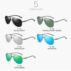 Image 5 - SHARK SEGEL Aluminium Magnesium Männer Sonnenbrille der Männer Polarisierte Beschichtung Spiegel Gläser Oculos Männlichen Brillen Zubehör Für Männer