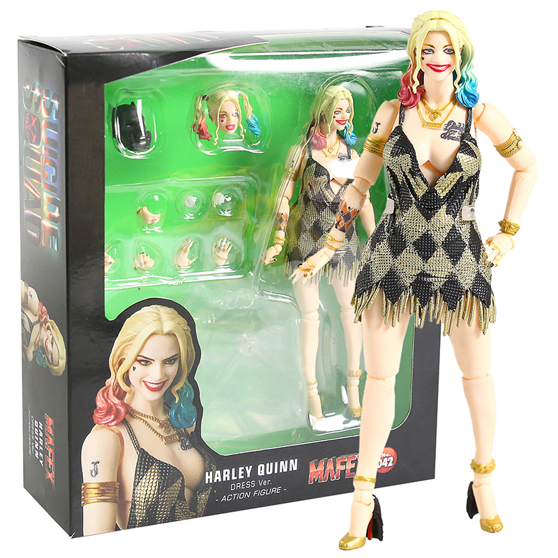 DC Comics Suicide Squad Harley Quinn Dress Ver MAFEX 042 Action Figure Toy Model Gift image