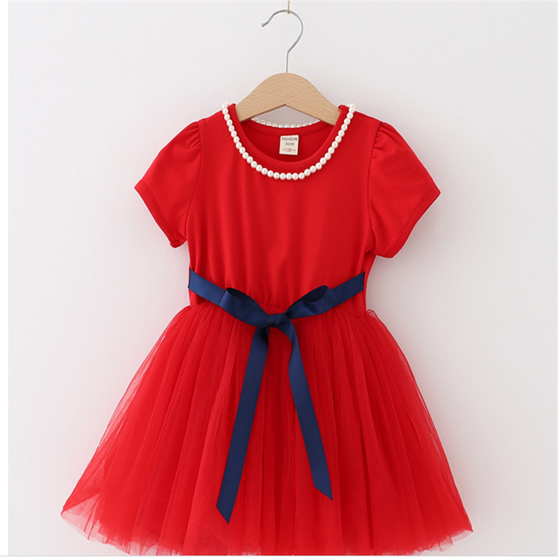 Summer Kids Dresses For Girls short Sleeve Children Clothing Tutu Girls Casual School Wear Princess Party Dress 2020 New 25 5