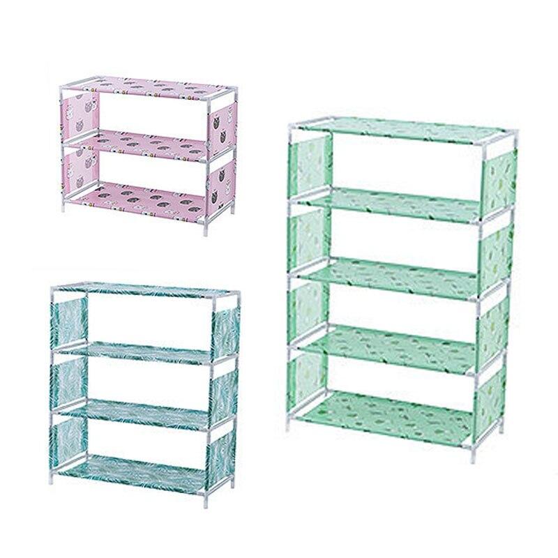 Non-woven Fabric Storage Shoe Rack Hallway Cabinet Organizer Holder 3/4/5 Layers Assemble Shoes Shelf DIY Home Furniture