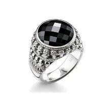925 Sterling Silver miniaturowe czaszki Surround owalny kamień onyksowy pierścienie czaszki, Thomas Style pierścień czaszka Ts biżuteria dla kobiet mężczyzn