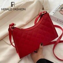 Женская сумка через плечо с алмазным узором полумесяц дизайнерские