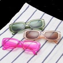 Occhiali da sole quadrati neri Vintage donna Luxury Brand occhiali da sole rettangolari piccoli gradiente femminile specchio trasparente UV400 Oculos De Sol