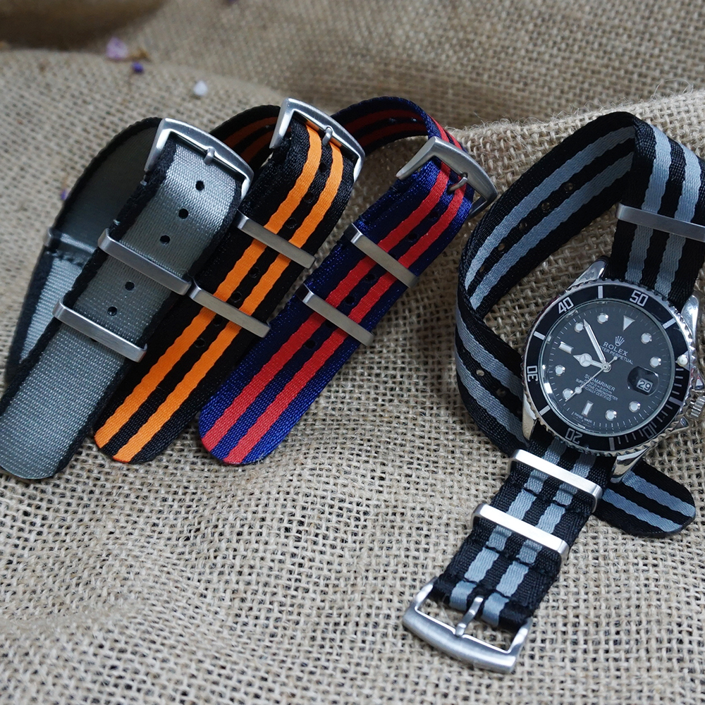20mm 22mm Seat Belt Nylon NATO Strap Military Watch Band Replacement Watch Straps For Omega James Bond 007