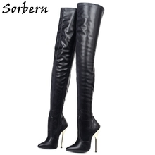 Unisex Boots Crotch Metal Heels Thigh Sorbern Custom 14cm Leg-Fit Drag-Queen Multi-Colors