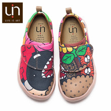 UIN ColaCola Design Hand-painted Little Kids Casual Shoes Easy Hook & Loop Lightweight Sneaker Children Comfort Shoes Girls/Boys(China)