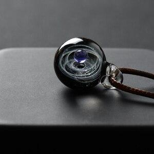 Image 5 - BOEYCJR collar con colgante de planetas, cadena de cuerda, diseño de sistema Solar, para mujeres