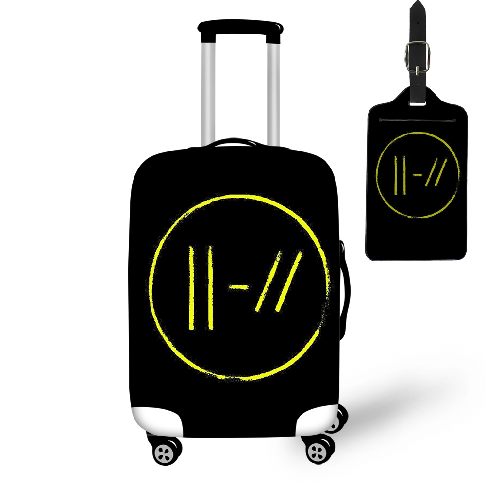 Thikin 2019 Twenty One Pilots Print Travel Luggage Cover With Tag Protective Case Easy Convenient Tourism Bag For Women Teen