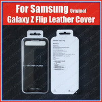 SM F700F Original Samsung Galaxy Z Flip Phone Case 2020 Genuine Leather Protection Cover