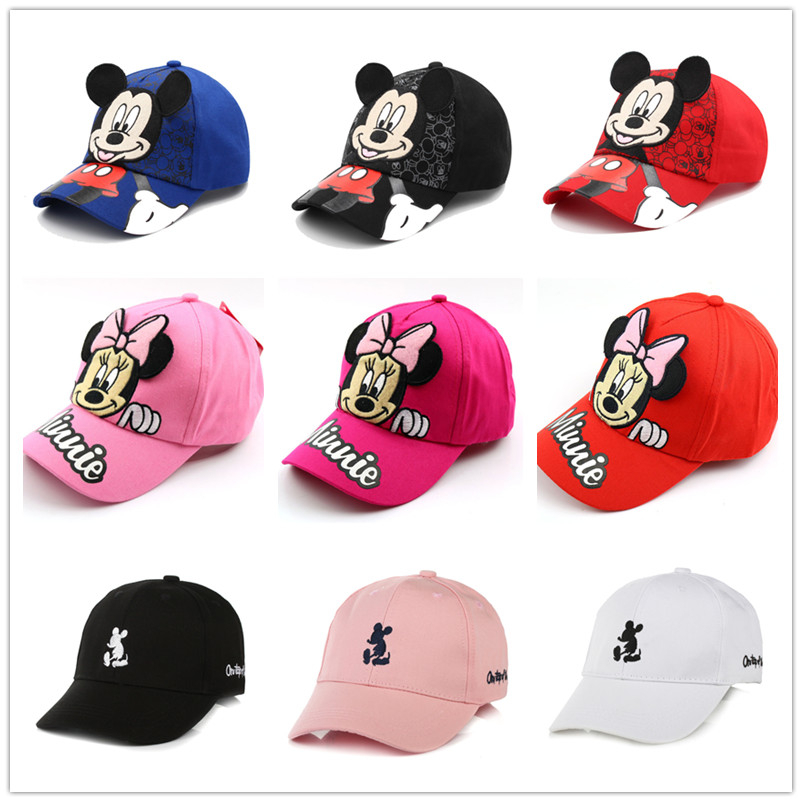 Children Popular America Captain Cap  100% Cotton Baby Boy Hat Cartoon Mickey Hat Snapback Baseball Cap Kids Adjustable Sun Caps
