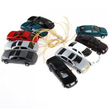 10 sztuk HO skala 1/100 dobrze malowany Model samochodów pociąg kolejowy uliczna sceneria układ budynku zabawki