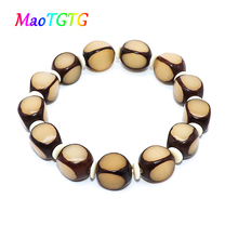Natural Bodhi Beaded Bracelet For Men Hand Jewelry Yoga Stretch Bracelets Pulseras Mujer