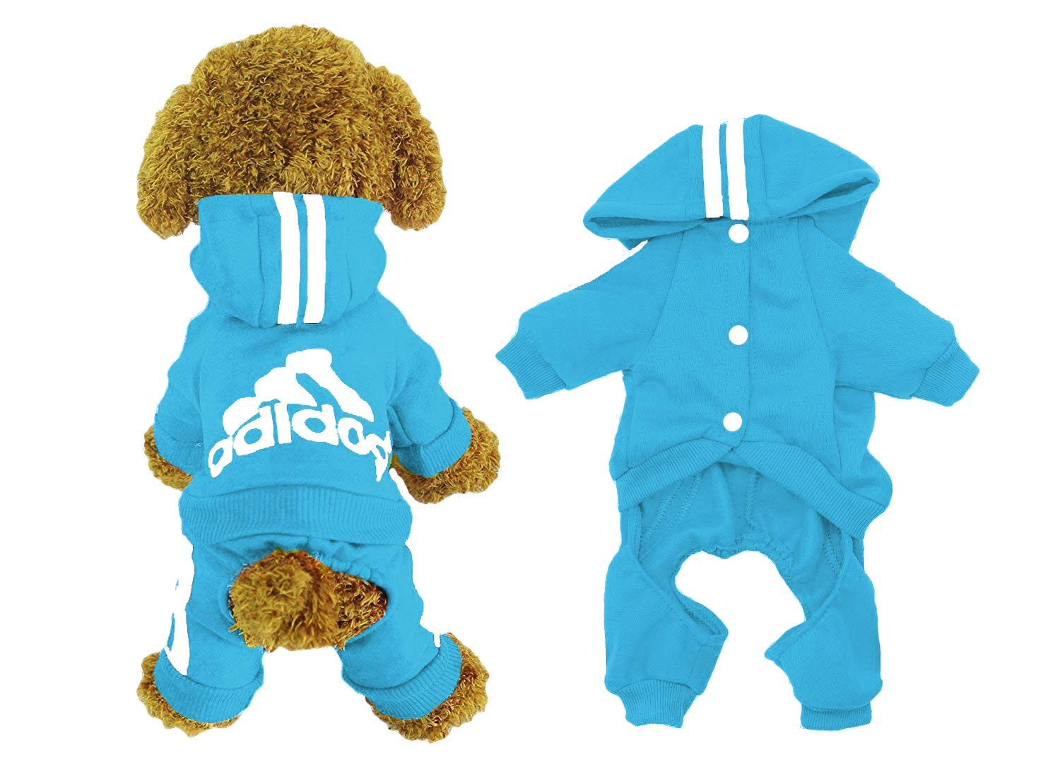 ADIDOG Dog Jacket with Hoodie and Four-Legged Design Made with Breathable Cotton Material 1